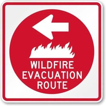 Wildfire Evacuation Route