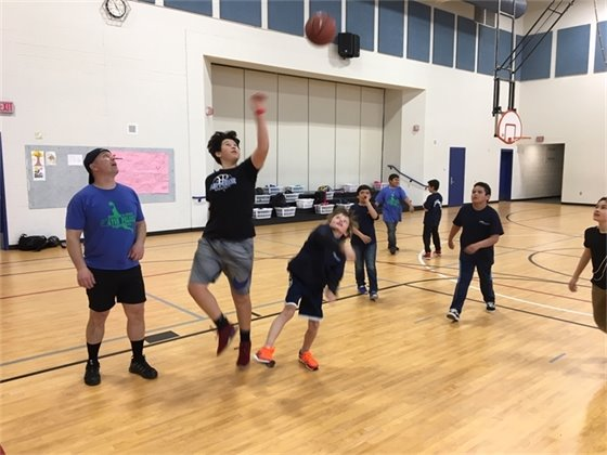 Kids Cops and Hoops at Avon Elementary