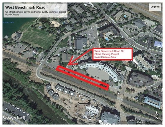 West Benchmark Road project map
