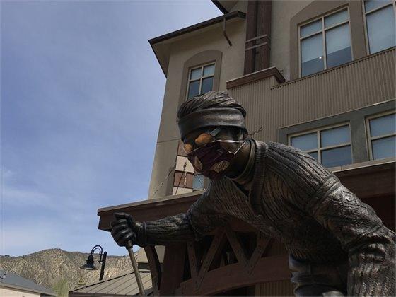 Avon Skier in Mask