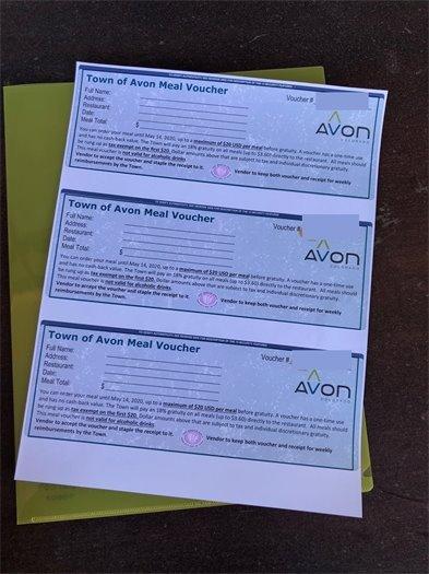 Town of Avon Meal Voucher