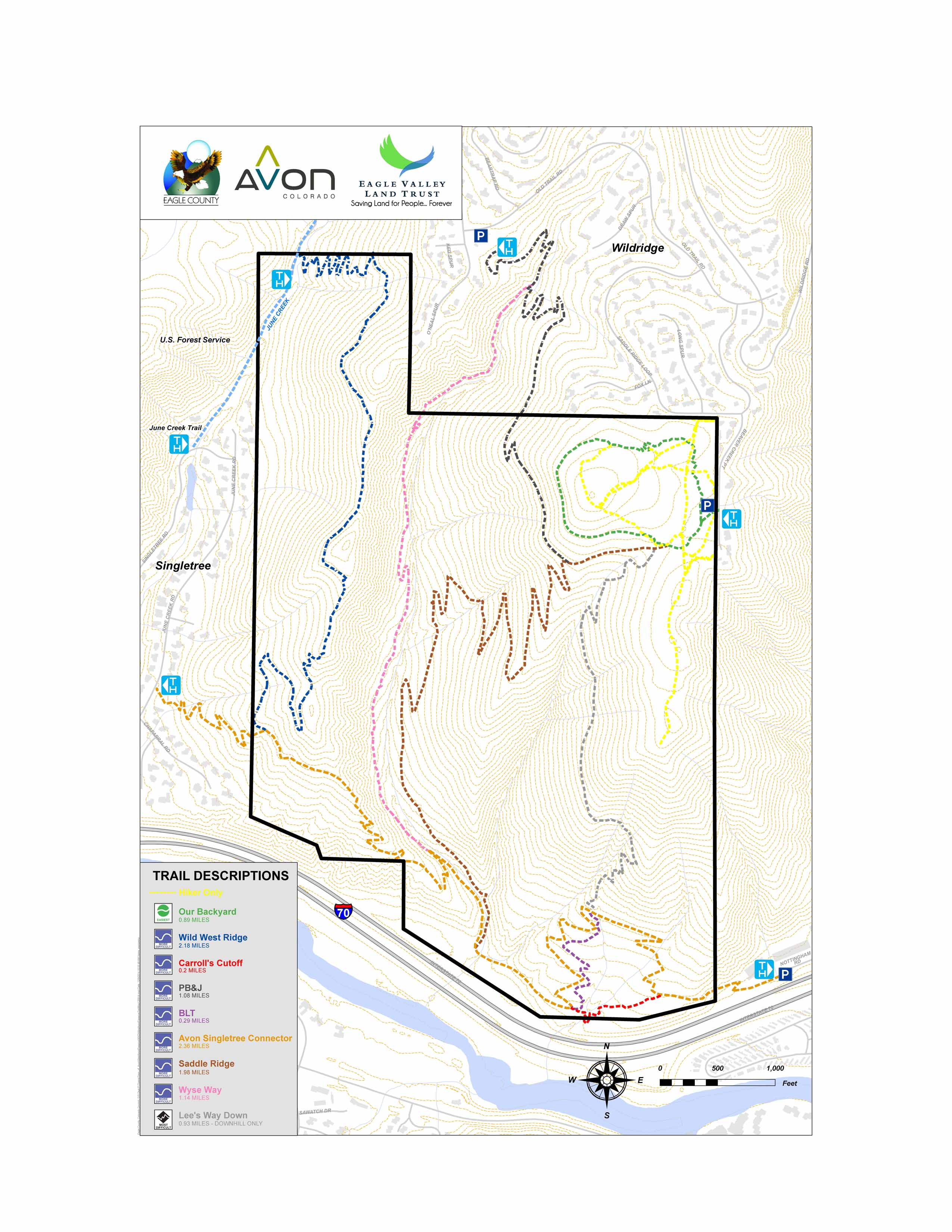 Biking And Hiking Trails Avon CO Official Website - Map of us hiking trails