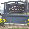 Town Hall Sign No Snow