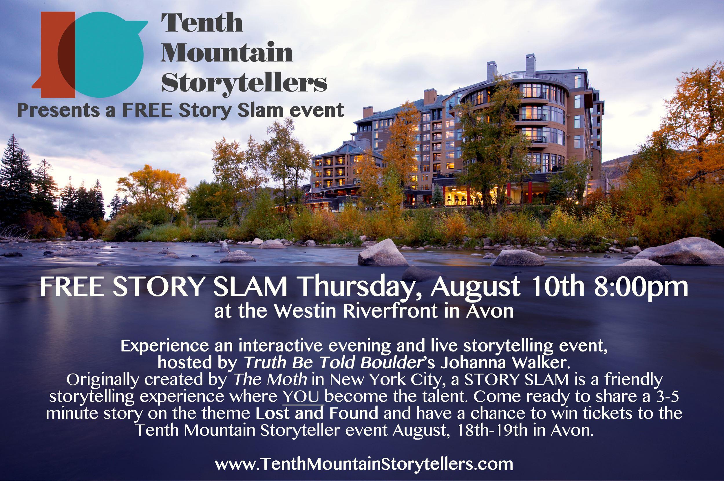 Westin story slam_august