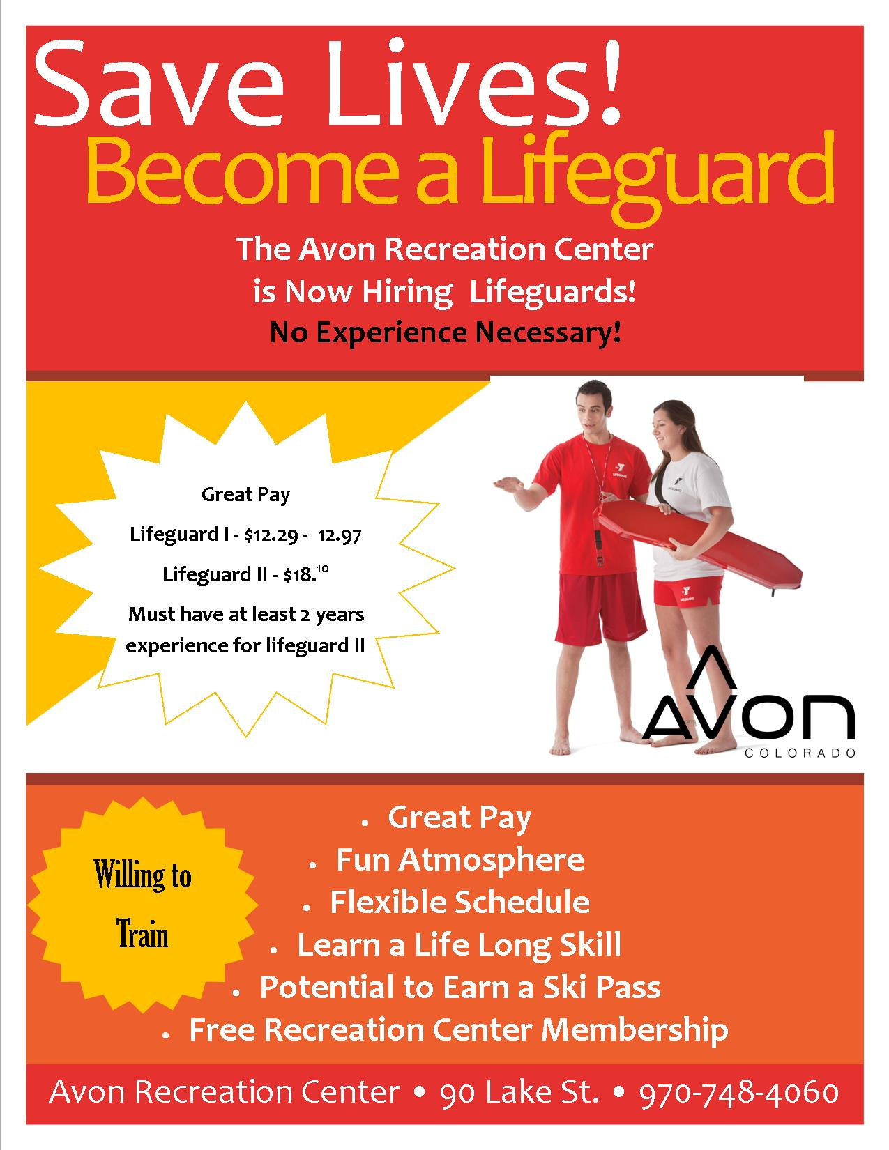 Lifeguard hiring flyer