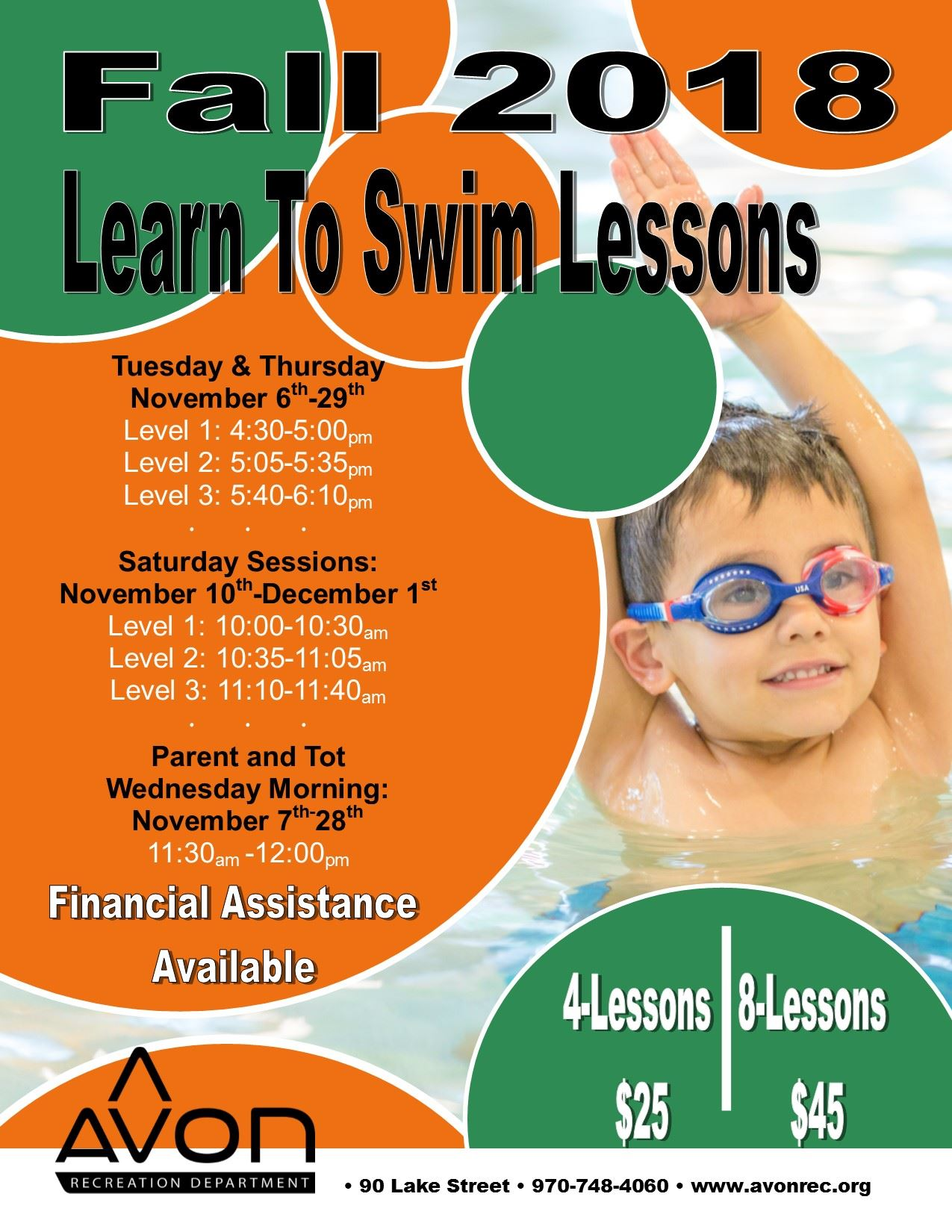 November  2018 Swim Lesson Flyer English