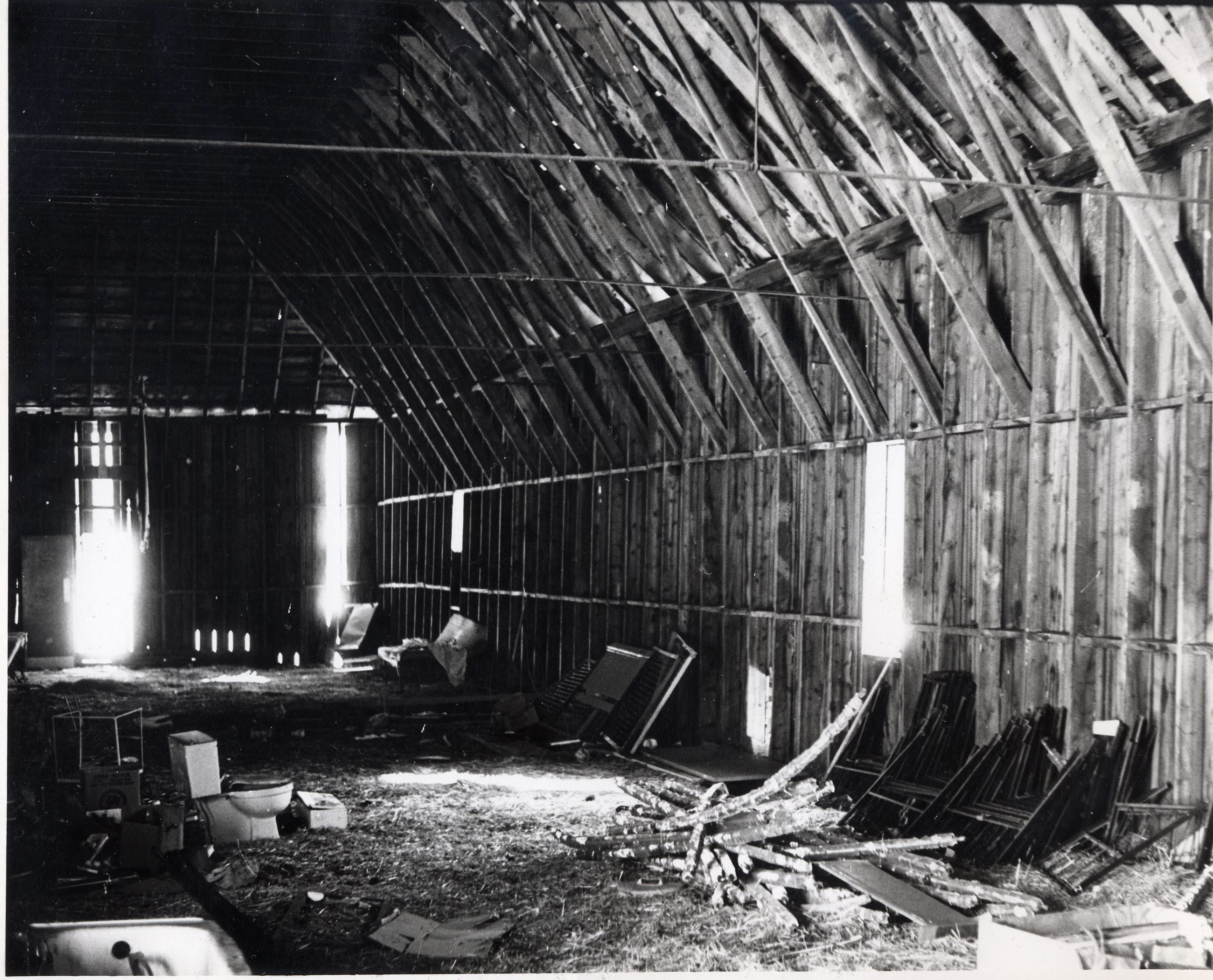 Barn - interior looking SE c1972