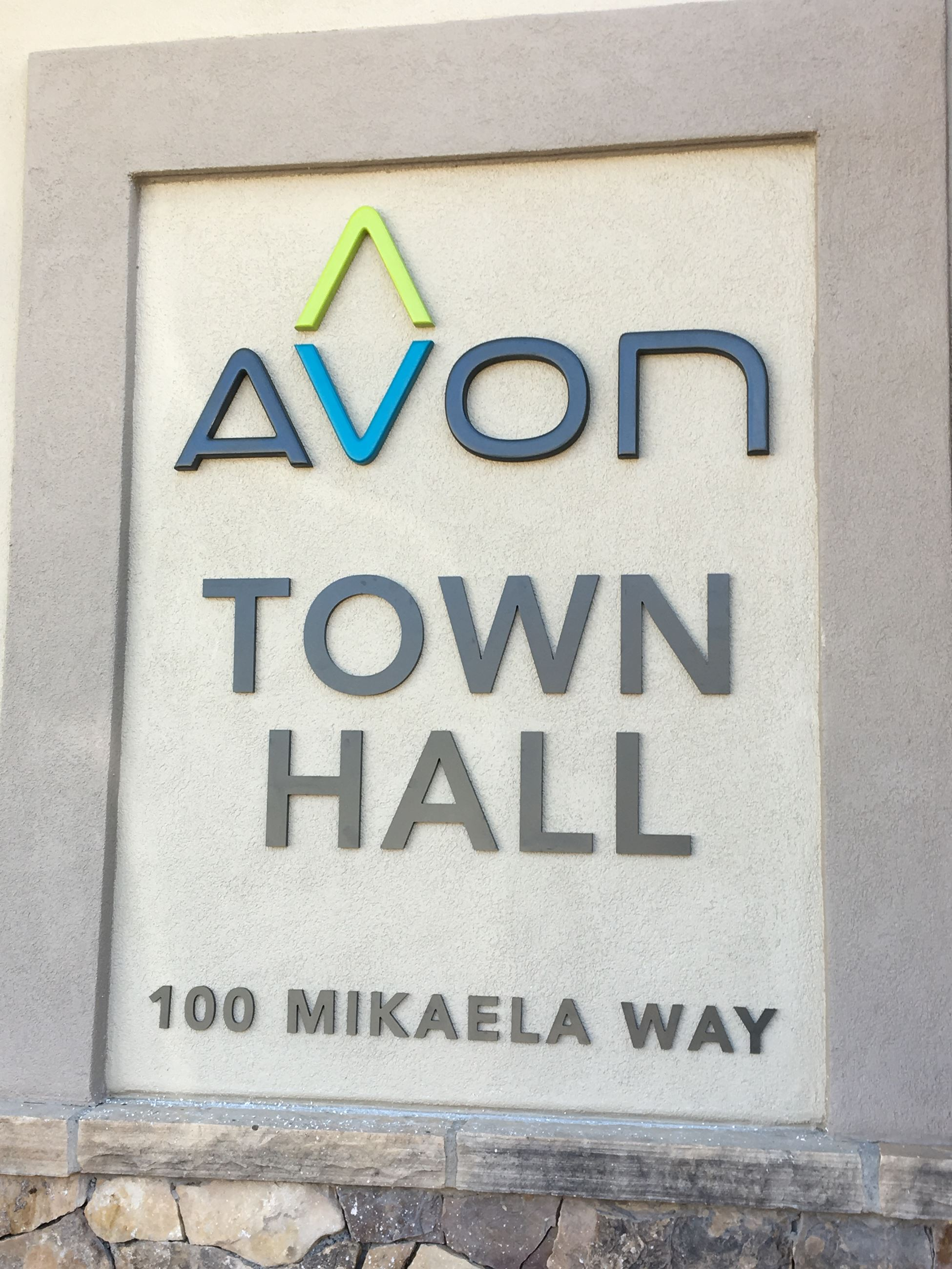 New Town Hall Sign