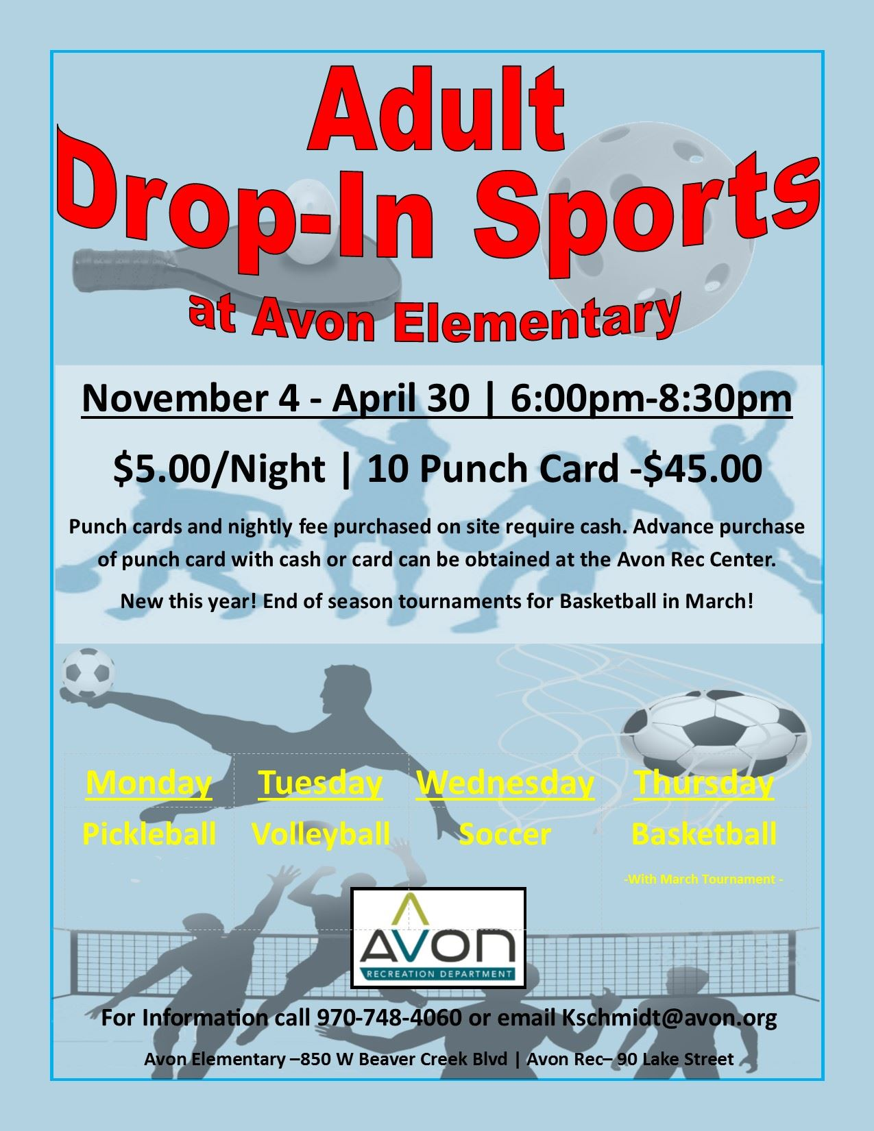 2019 Drop-In Flyer