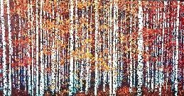 Painting of Fall Aspen Trees