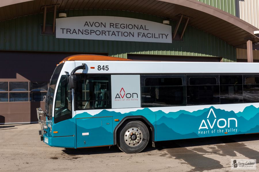 Avon Bus in front of Transit Facility