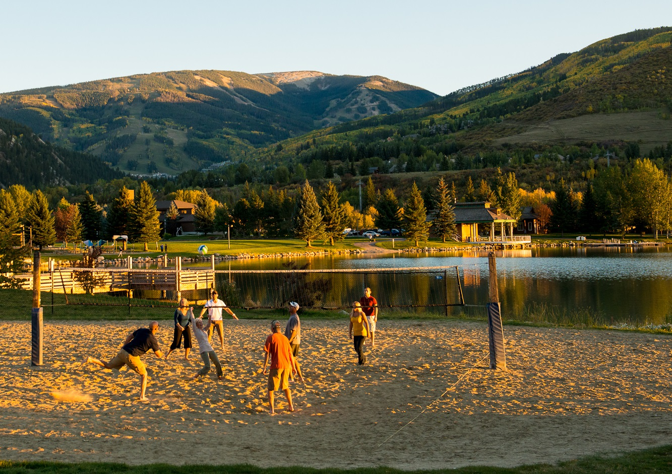 Volleyball by Lake